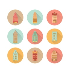 Europe house set vector