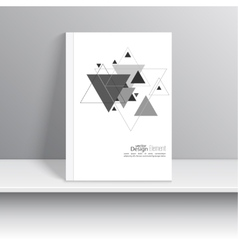 Magazine cover with pattern hipster triangle vector