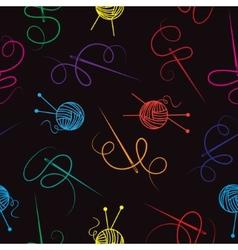 Needle thread ball of wool seamless background vector