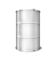 Metal barrel vector