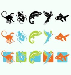 Zoo animal set vector