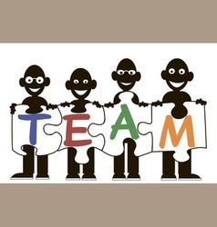 Men team puzzles vector
