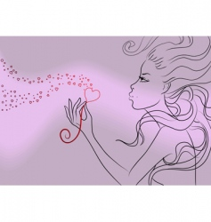 Girl valentine's day vector