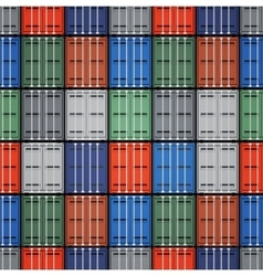 Shipping containers vector