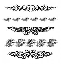 Set of tattoo design vector