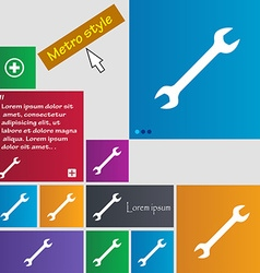 Wrench icon sign buttons modern interface website vector