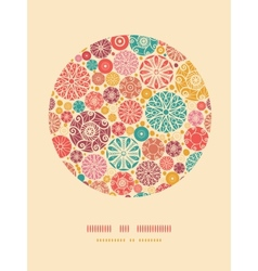 Abstract decorative circles oval decor pattern vector
