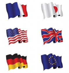 Flag set vector