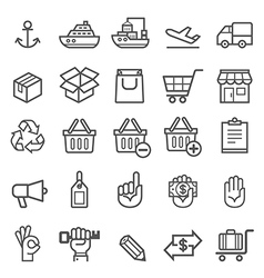 Business transportation element icons vector