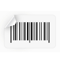 Sticker with bar code vector