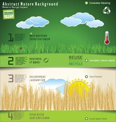 Modern nature design layout vector