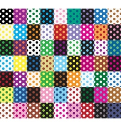 Polka dots 63 seamless patterns vector