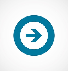 Arrow bold blue border circle icon vector
