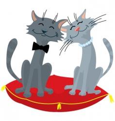 Cats wedding vector