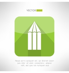 Pencil icon made in modern flat design creativity vector