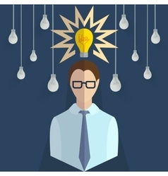 Businessman thinking infographics vector