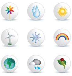 Weather white buttons vector