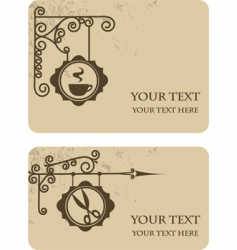 Vintage shop cards vector