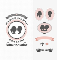 Our sweet love story vector