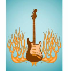 Guitar flames vector