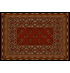 Luxurious in red shades classic carpet vector
