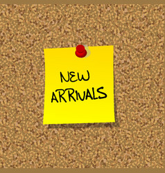 New arrivals vector