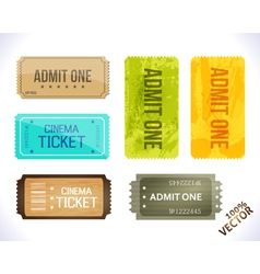 Admit one different stickers vector