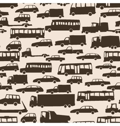 Seamless abstract cartoon background with many car vector