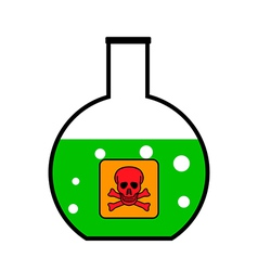 Laboratory glass with poison vector