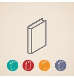 Isometric book icons vector