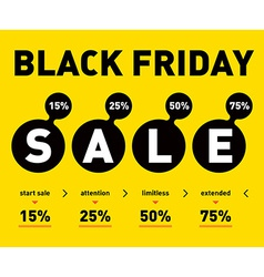 Black friday sale poster on light background vector