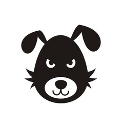Bad dog icon vector