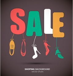 Shopping sale banner vector