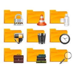 Folders with different icons vector