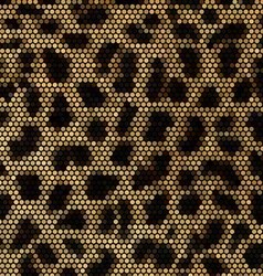 Leopard mosaic background vector