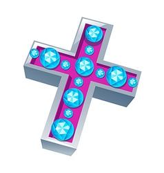 Icon cross vector