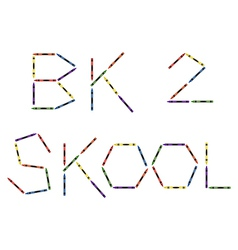 Colored crayons forming back to school vector