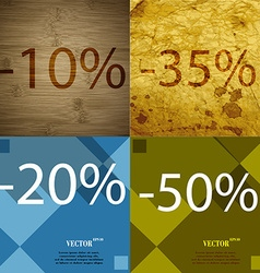 35 20 50 icon set of percent discount on abstract vector