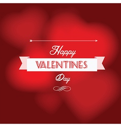 Happy valentine s day postcard vector