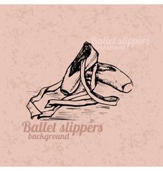 Ballet slippers background vector