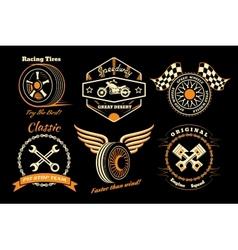 Set of racing badge vector