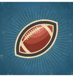 Retro american football vector