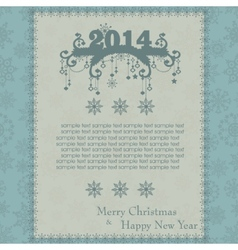 Vintage christmas card made from snowflakes vector