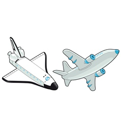 Airplane and shuttle vector