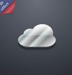 Cloud icon symbol 3d style trendy modern design vector