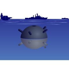 Naval mine vector