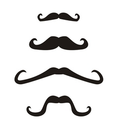 Set of curly vintage retro gentleman mustaches vector