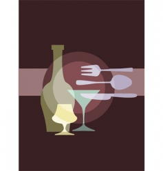 Restaurant and dining vector
