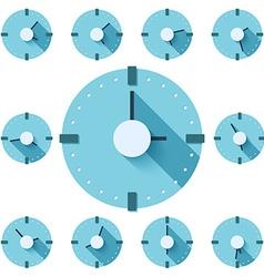 Clock flat icon eps vector