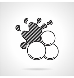 Paintball balls black line icon vector
